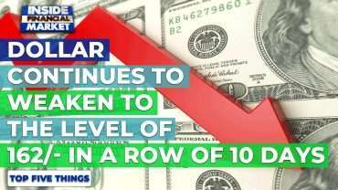 Dollar continues to Weaken to 162/- in 10 days | Top 5 Things | 21 Oct '20 | Inside Financial Market