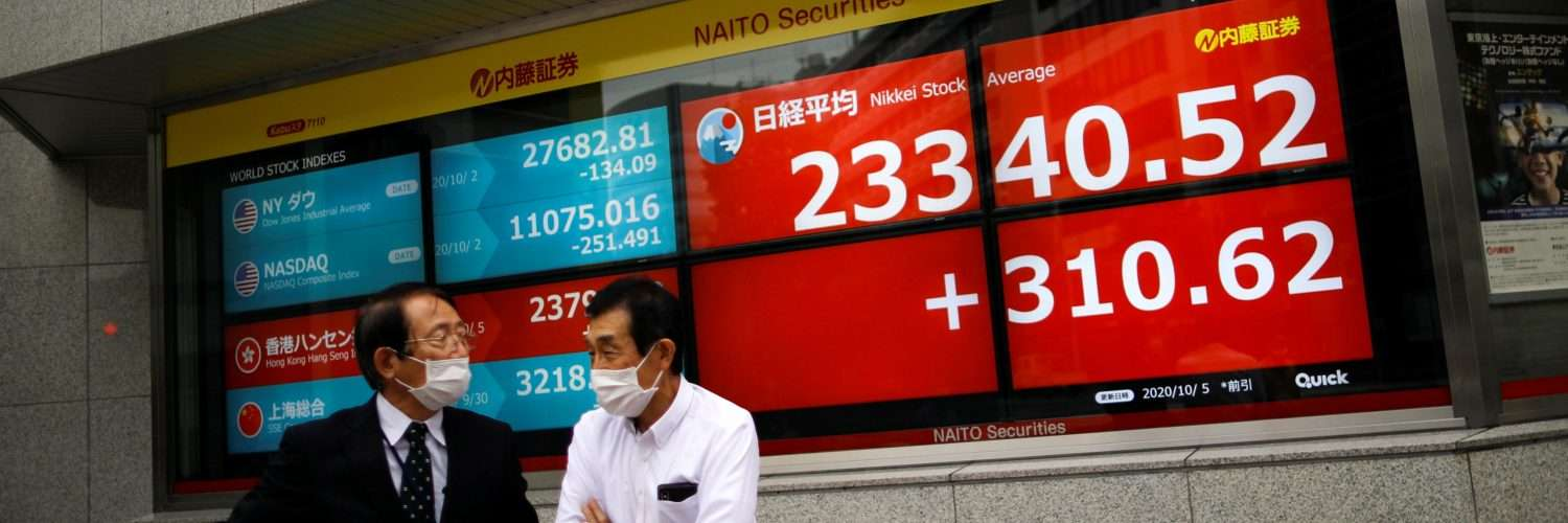 Asian stocks inch up, oppose U.S. stimulus gloom - Inside Financial Markets