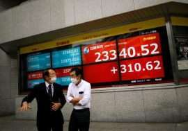 Asian shares bounce on hopes for U.S. stimulus, vaccine - Inside Financial Markets